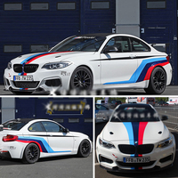 Car Accessories Decorative Stickers Vinyl Sport Stickers Decals Racing Stripes Ralliart sticker For BMW 3 4 335i M6 320 X6 E39
