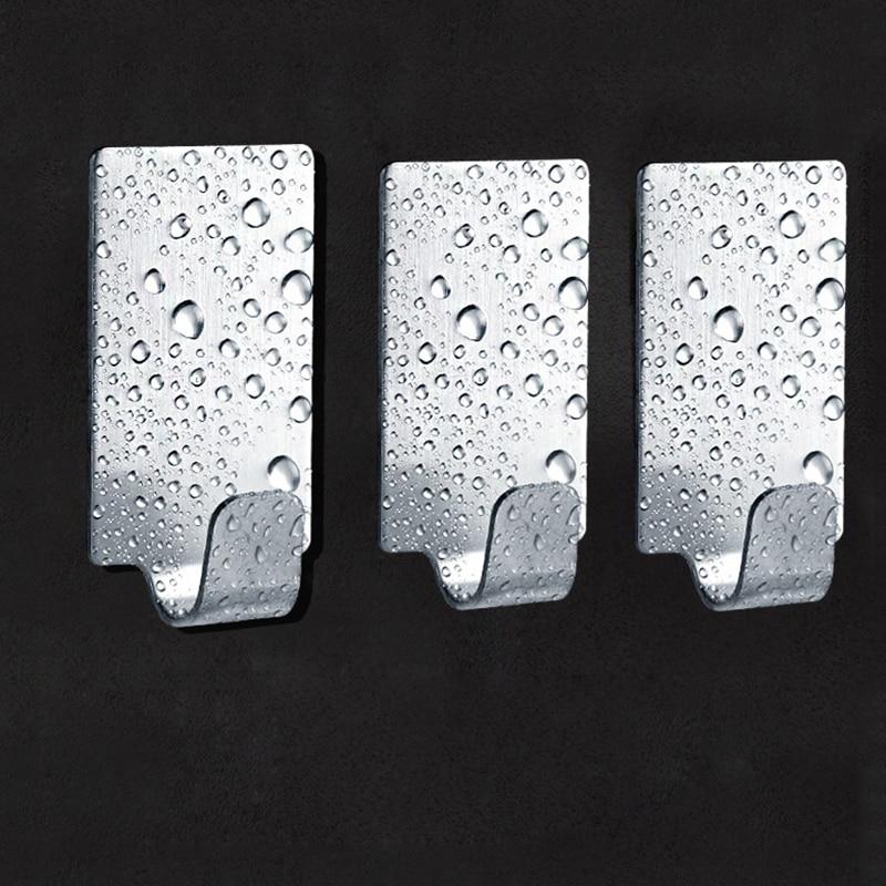 Купить 3 шт самоклеющийся кухонный крючок для задней двери новый держатель