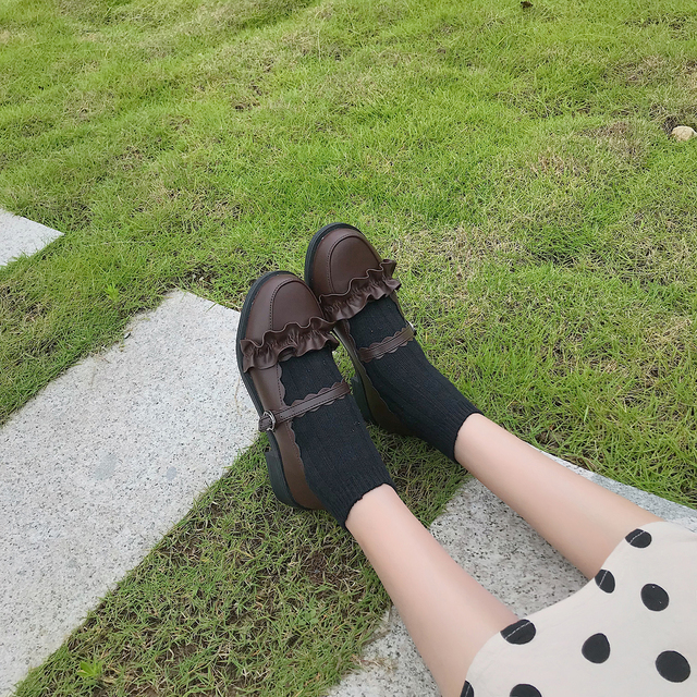 2020 new Japanese lolita women's shoes soft sister cute low-heeled uniform student small leather shoes round head female