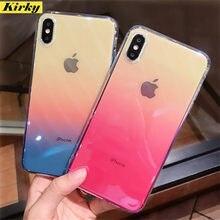 Coque de protection en Silicone souple pour iPhone, compatible modèles 6s, 7, 8, 11 Pro, Max, Xs, Max, XR, X, SE
