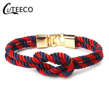 CUTEECO 2019 New Nylon Anchor Bracelet For Men Women String Wrap Rope Chain Charm Jewelry