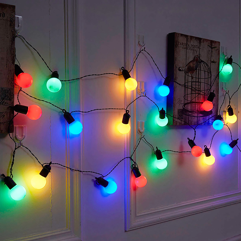 6M 15M 20 50 LEDs Ball Bulb String Lights Xmas Wedding Party Holiday In//Outdoor