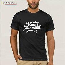 Fashion Brand Clothing Print Round Neck Man King Diamond Summer Casual T Shirt Good Quality