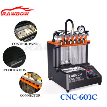 ORIGINAL 220V CNC-603C FUEL INJECTOR TESTER CLEANING MACHINE NEW MODEL INJECTOR CLEANING TOOL