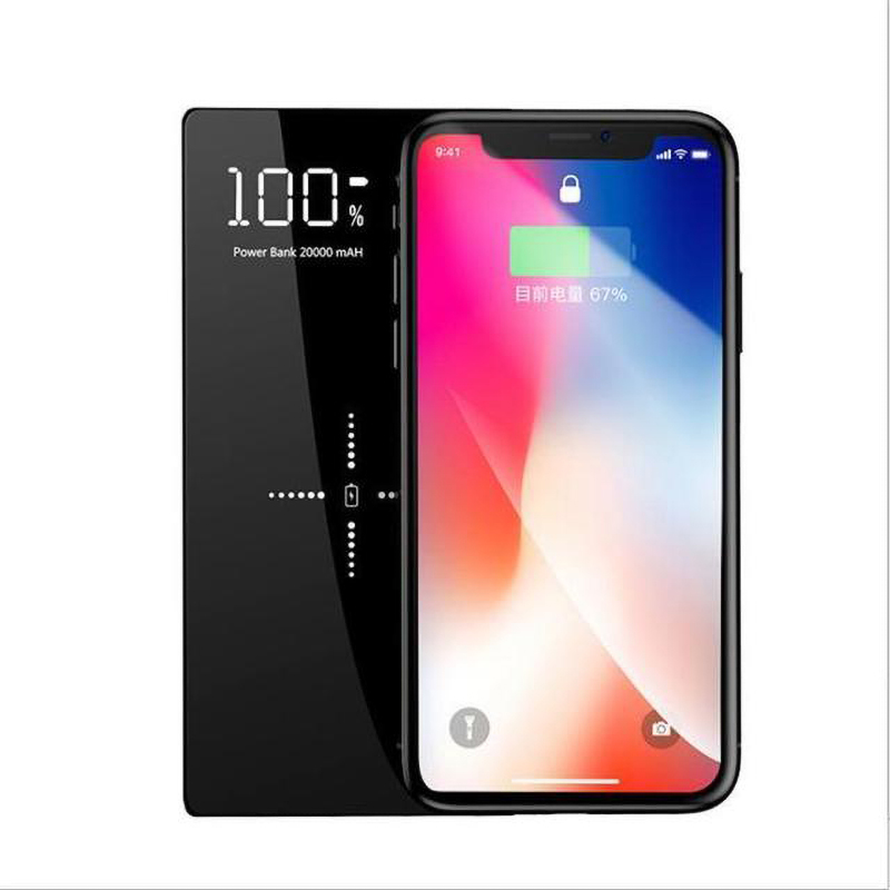 20000mAh QI Wireless Charger Power Bank LED Display External Battery For IPhone X 11 Samsung S9 Note8 Xiaomi MI7 MIX2S Powerbank