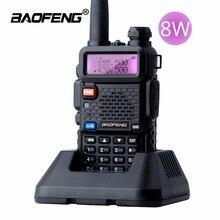 Baofeng UV 5R 8W ווקי טוקי 10km להקה כפולה UV 5R חם דו דרך רדיו VOX פנס כף יד ארוך טווח ציד נייד רדיו