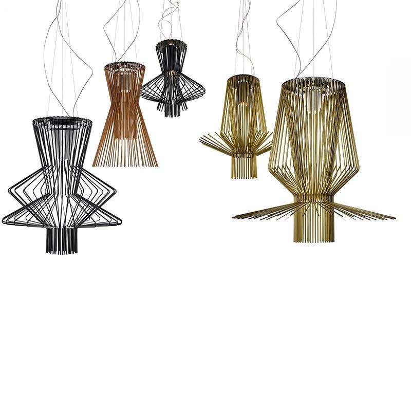 Işıklar ve Aydınlatma'ten Kolye ışıkları'de Modern aydınlatma Foscarini Allegro Ritmico kolye ışıkları LED kuş kafesi asılı lambalar İtalya endüstriyel lamba ev dekor armatür title=