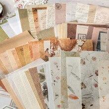 30 pçs temperatura da ponta do dedo material misturado papel especial pacote material feito à mão retro colagem fundo base material papel