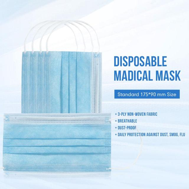 Disposable  Mouth Mask  Non-woven Ear Loop Anti-Dust Facial Protective Cover Masks bacteria proof Flu Face Masks