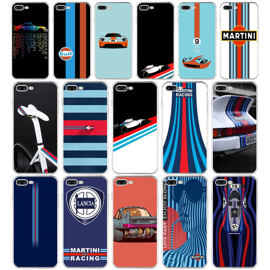 143FG Martini Racing Colores Weiche TPU Silikon Abdeckung Fall Für Apple iPhone5 <font><b>5s</b></font> se 6 6s 7 8 plus x xr xs max image