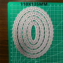 LACE FLOWER CIRCLE Metal Cutting Dies For Stamps DIY Scrapbooking Decor Embossing Handcraft Die Template