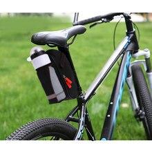 Велосипедная седельная сумка с карманом для бутылки воды, Водонепроницаемая MTB велосипедная задняя Сумка, велосипедная задняя седельная сумка, Аксессуары для велосипеда