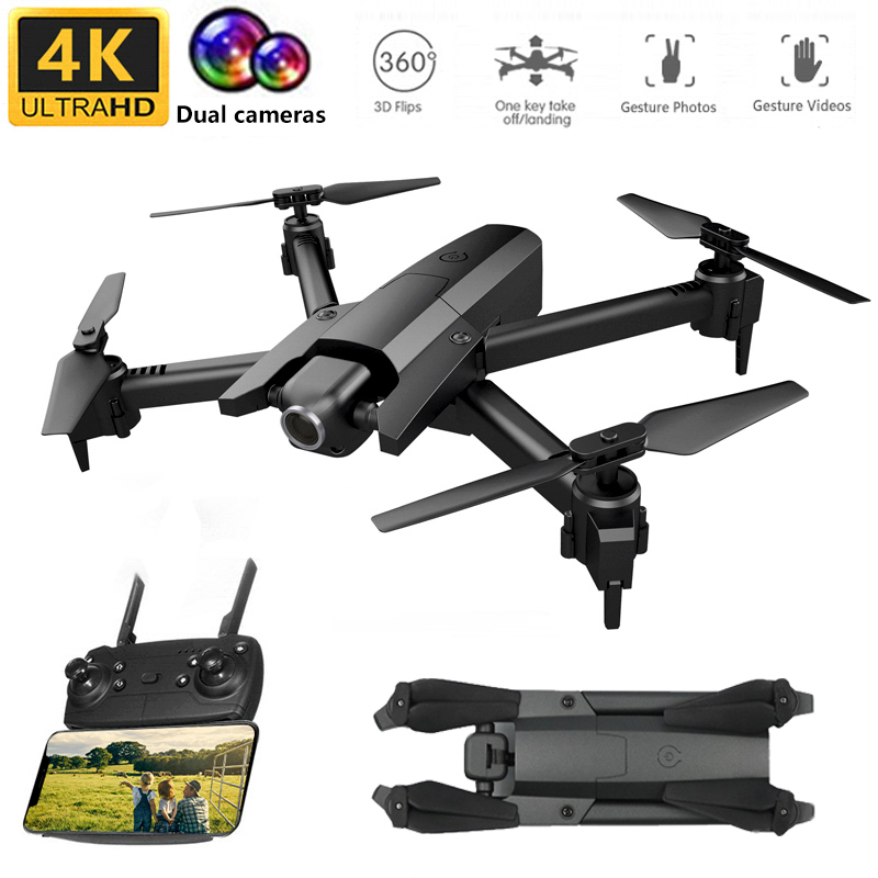 <font><b>GW106</b></font> RC Profissional Drone With 4K HD Dual Camera Helicopter RC Quadcopter Wifi FPV Selfie Drone VS M69 M70 SG106 E58 E520 image