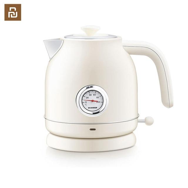 Электрический чайник с контролем температуры, большой емкости 1,7л с часами