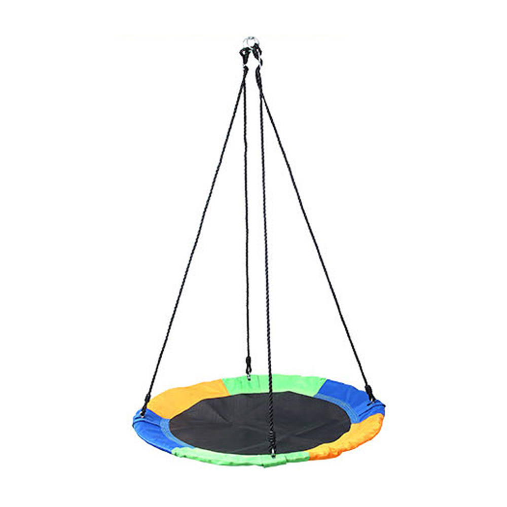 Outdoor Children Swing 1M 40inch Saucer Rotate Tree Nest Swing 900D 600lbs Flying Giant Rope Round Swing Kids Hanging Seat Toys(China)