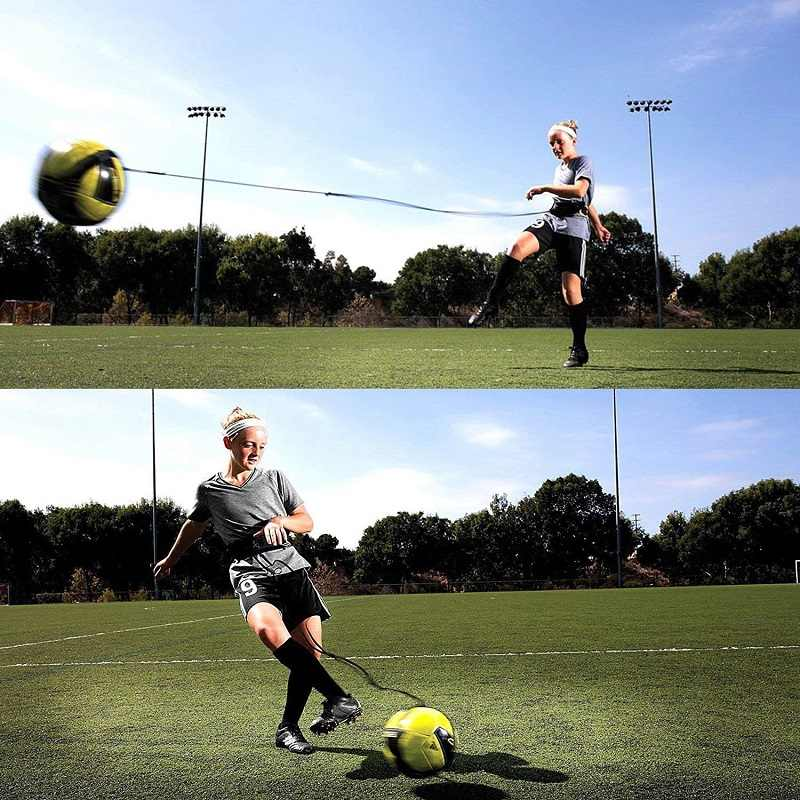 Kick Soccer Football Trainer Training Aid Practice Sport Equipment For Kid Adult