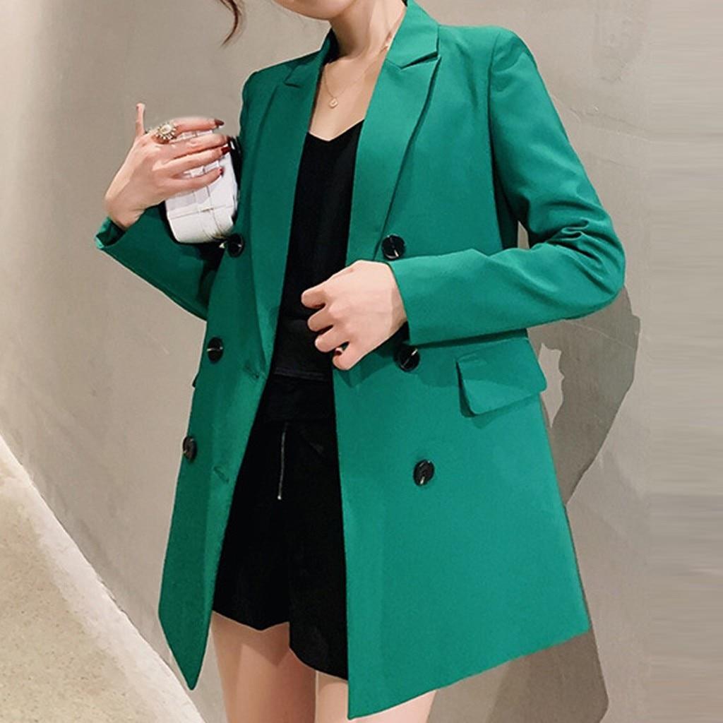 Blazer Feminino Blazer Women Blazer Mujer Marynarka Damska Blazer Femme Blaser Feminino Plus Size 2019 S-2XL Fashion Button Z4