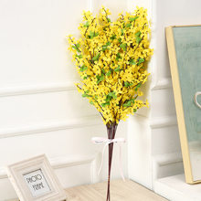 65cmHandmade Yellow Flowers Winter Dancing Orchid Fake Flower Silk Plastic Artificial Flower For Home Wedding Party Floral Decor