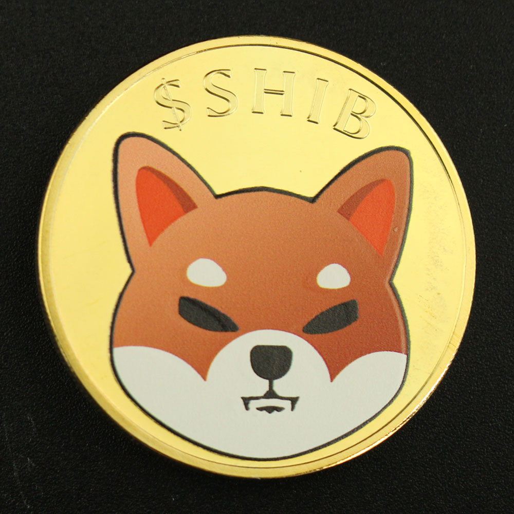 Иллюстратор Dogecoin, монета Шиба-ину (шиб), сувенир, криптовалюлово-металлическая позолоченная физическая шиб, Коллекционная монета, Дог-убийц...