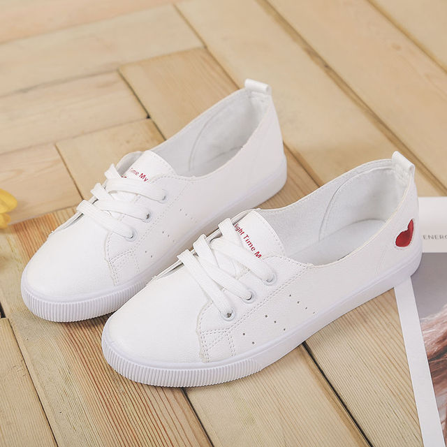 Spring White Casual Breathable Flats