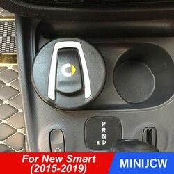 Car Styling biegów zbiornik wody popielniczka schowek pojemnik ze światłem dla nowego Smart 453 fortwo forfour wyposażenie wnętrz w Śmietniki samochodowe od Samochody i motocykle na