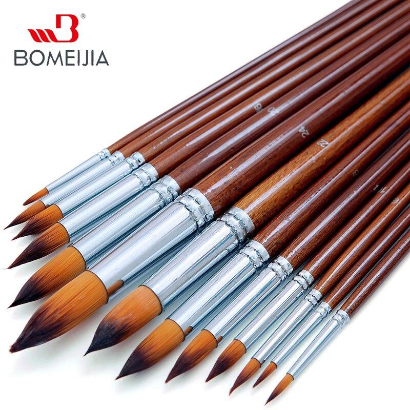13 шт художественный акварельный набор кистей для рисования мягкий анти-линяющий нейлоновый ворс деревянная длинная ручка Кисть для краски