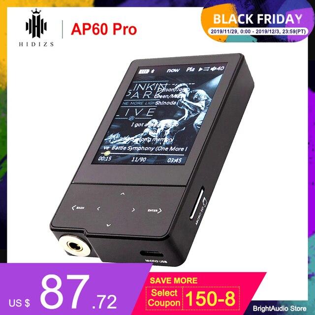 Hidizs AP60 プロbluetoothポータブルミニ高解像度音楽プレーヤーMP3 とES9118C dacサポートDSD64/128 pcm 384 125khz/32bit hibyリンク