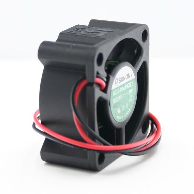 Original SUNON 4020 4cm DC 24V 1.2W KD2404PKB2 40*40*20 4CM 2-wire inverter cooling fan