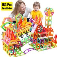 Mini zestaw Magnetic Designer Construction Model i zabawki do budowania plastikowe bloki magnetyczne zabawki edukacyjne na prezenty dla dzieci