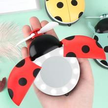 Cool Summer Cute Design Mini Handheld Portable Foldable USB Rechargeable Battery Operated Electric Fan Desktop Cooling Fan unique led love pattern handheld mini fan super mute battery operated for cooling cute