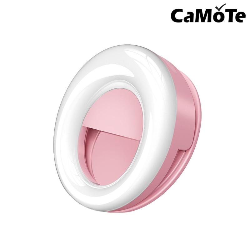 Live Light Portable Flash LED Selfie Ring Light Studio Photography Photo Fill Ring Light USB Charge Selfie Camera forsamsung