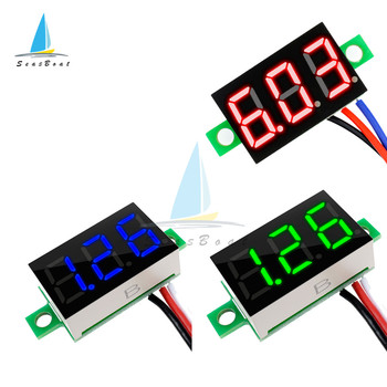 0.36 Inch Digital Voltmeter DC0-30V Digital Voltmeter Voltage Panel Meter Red/Blue/Green For 6V 12V Electromobile Motorcycle Car image