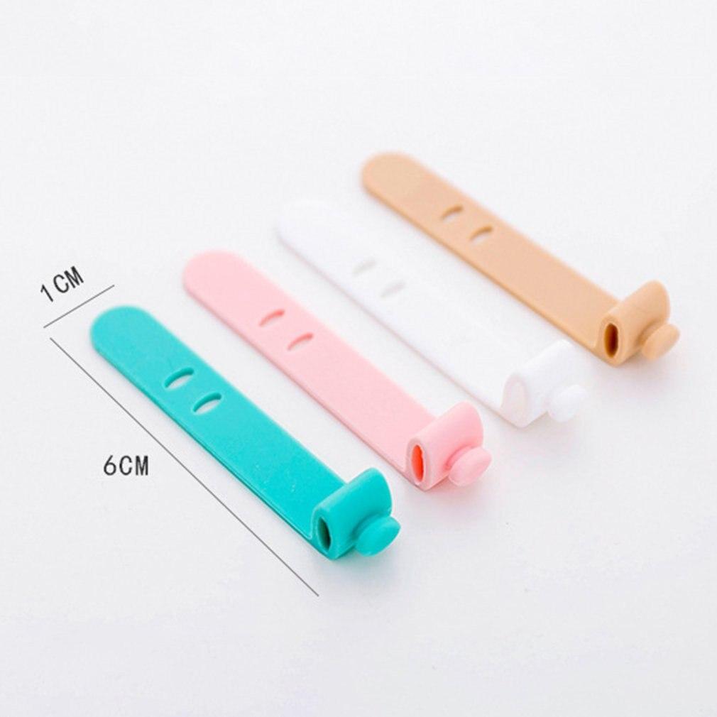 8 pièces couleur unie câble enrouleur organisateur ensemble de bureau fil données ligne support ligne Fixer enrouleur envelopper cordon bureau accessoires stationnaire - 6