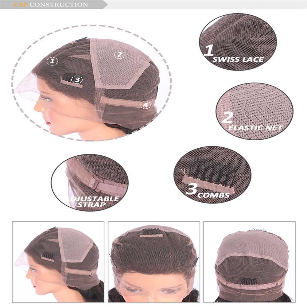 Ombre peruca de cabelo curto, perucas de cabelo humano com renda completa 1b/30, cor de dois tons parte 180% densidade