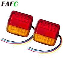 2Pcs Auto Anhänger Lkw Schwanz licht Auto 20 LED Hinten Schwanz Licht Lauf Blinker Hinten Lampen Wasserdichte Tailight teile 12V