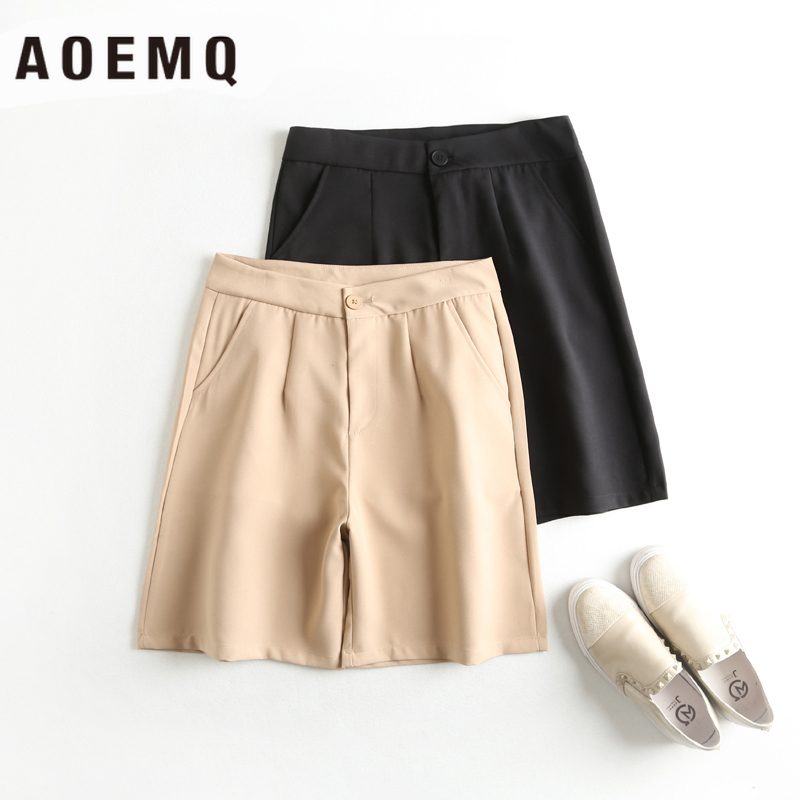 AOEMQ Shorts Girl Hot Summer Shorts Skirts With Button Fly Adjustable Short Pants High-Waist Shorts Skirts Women's Clothing