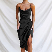40 # feminino dividir vestidos sexy casual magro cruz cor sólida hip apertado-encaixe magro vestido de festa clube vestidos longos de verao