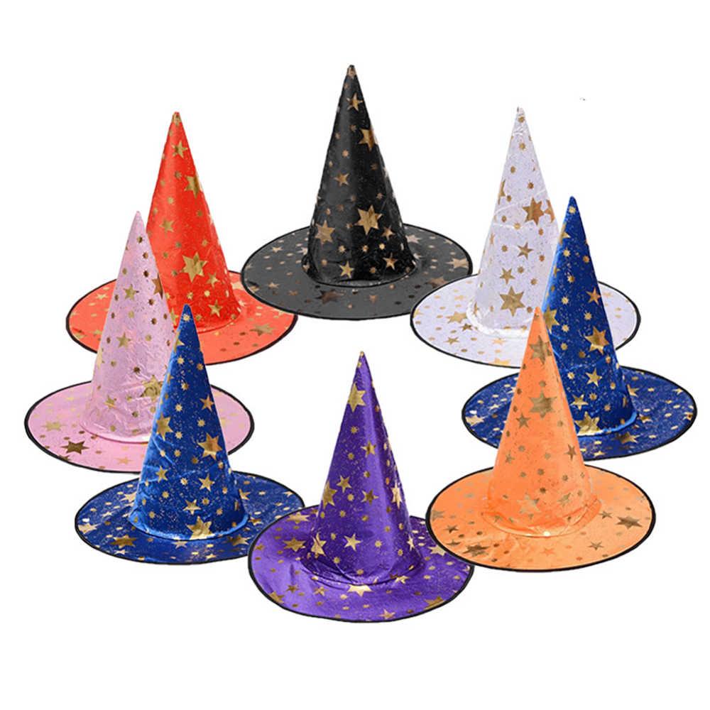 Хэллоуин ведьмины колпаки маскарадные вечерние шапки кепки косплей костюм аксессуары вечерние платья Декор