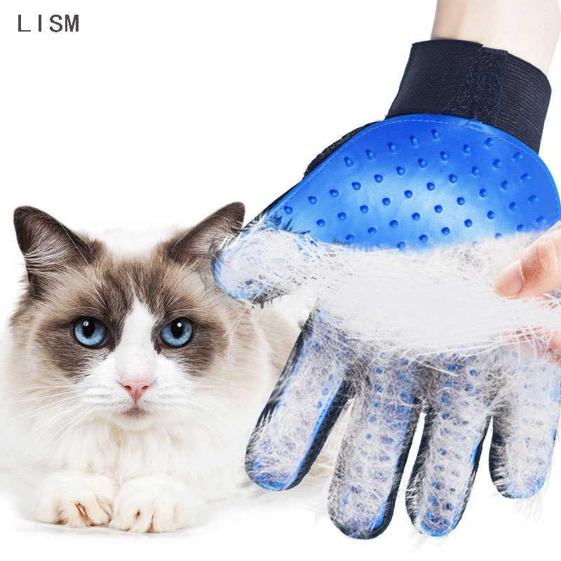 Pet Grooming ถุงมือสำหรับแมวสุนัขออก Glove ทำความสะอาดแปรงสัตว์นวดถุงมือซิลิโคนสำหรับแมว remover แปรง