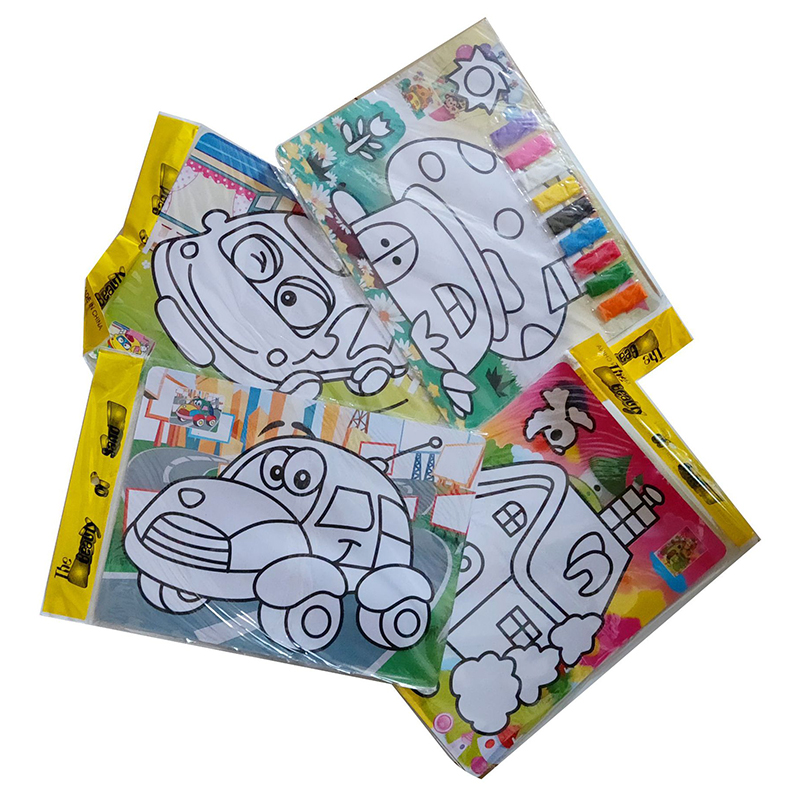 10pcs/Lot Cute Colorful Kids Drawing Toys Sand Painting Images Diy Craft Education Toy For Kid Diy Education Toy FL