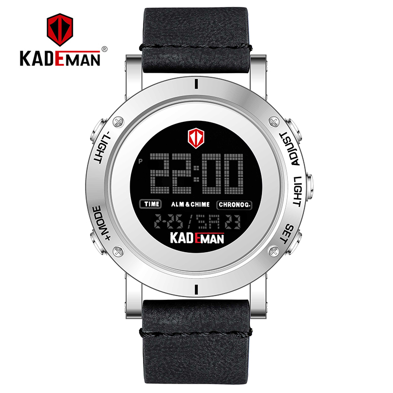 KADEMAN Luxus Marke Mode Mann der Uhr Luxus Analog Digital Military Sport LED Wasserdichte Armbanduhr Relogio Masculino K010-in Digitale Uhren aus Uhren bei  Gruppe 2
