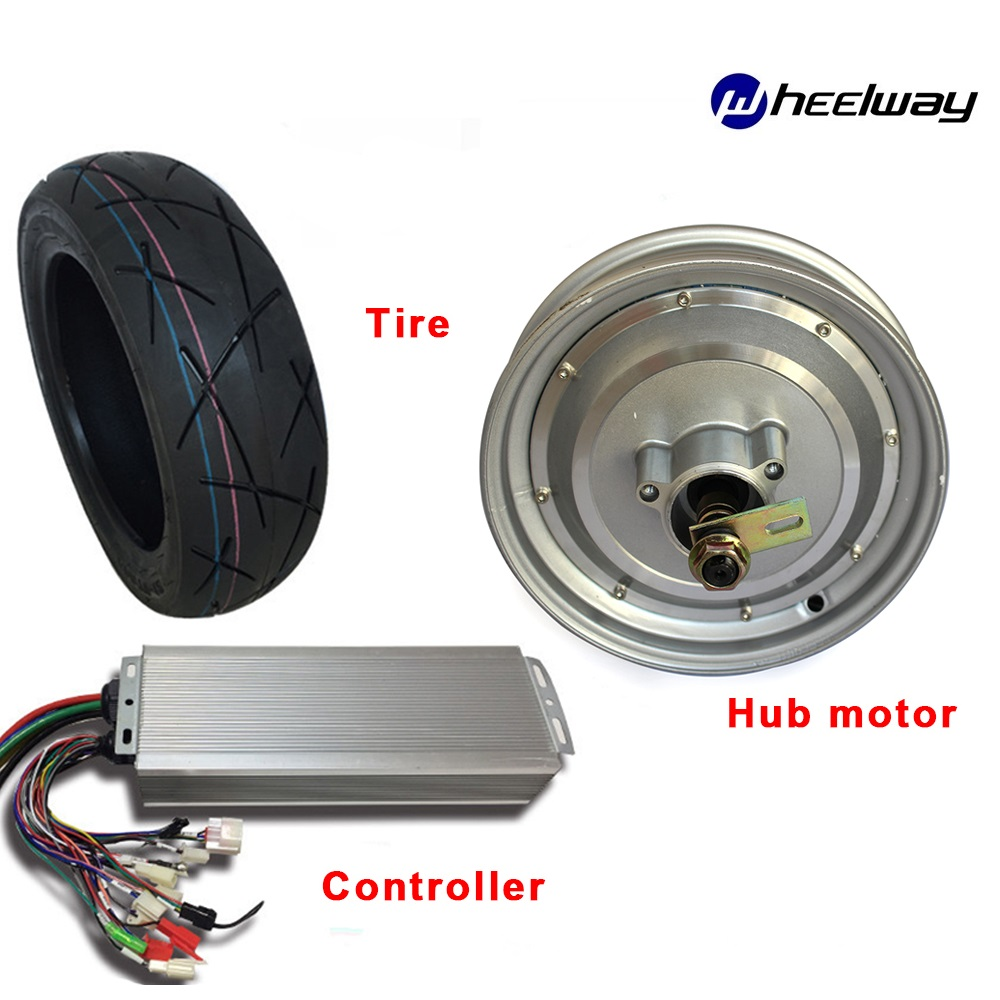 10 Inch 48V <font><b>60v</b></font> 72v 1000-<font><b>2000W</b></font> Hub <font><b>Motor</b></font> Kit With matched Controller ForDIY Green Car DIY Wheel Electric Motorcycle image