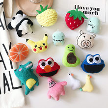 Cartoon Panda Dinosaur Duck Cute Pins for Backpacks DIY Fruit Kawaii Pins Badge Collar Clothes Christmas Plush Brooch Lapel Pin(China)