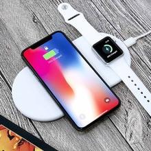 2 в 1 QC 2,0 зарядное устройство для Apple Watch 4/3 Iphone X 8 8 plus 10 Вт Беспроводная Быстрая зарядка для iWatch 4 3 2 1 samsung Galaxy S9 S8