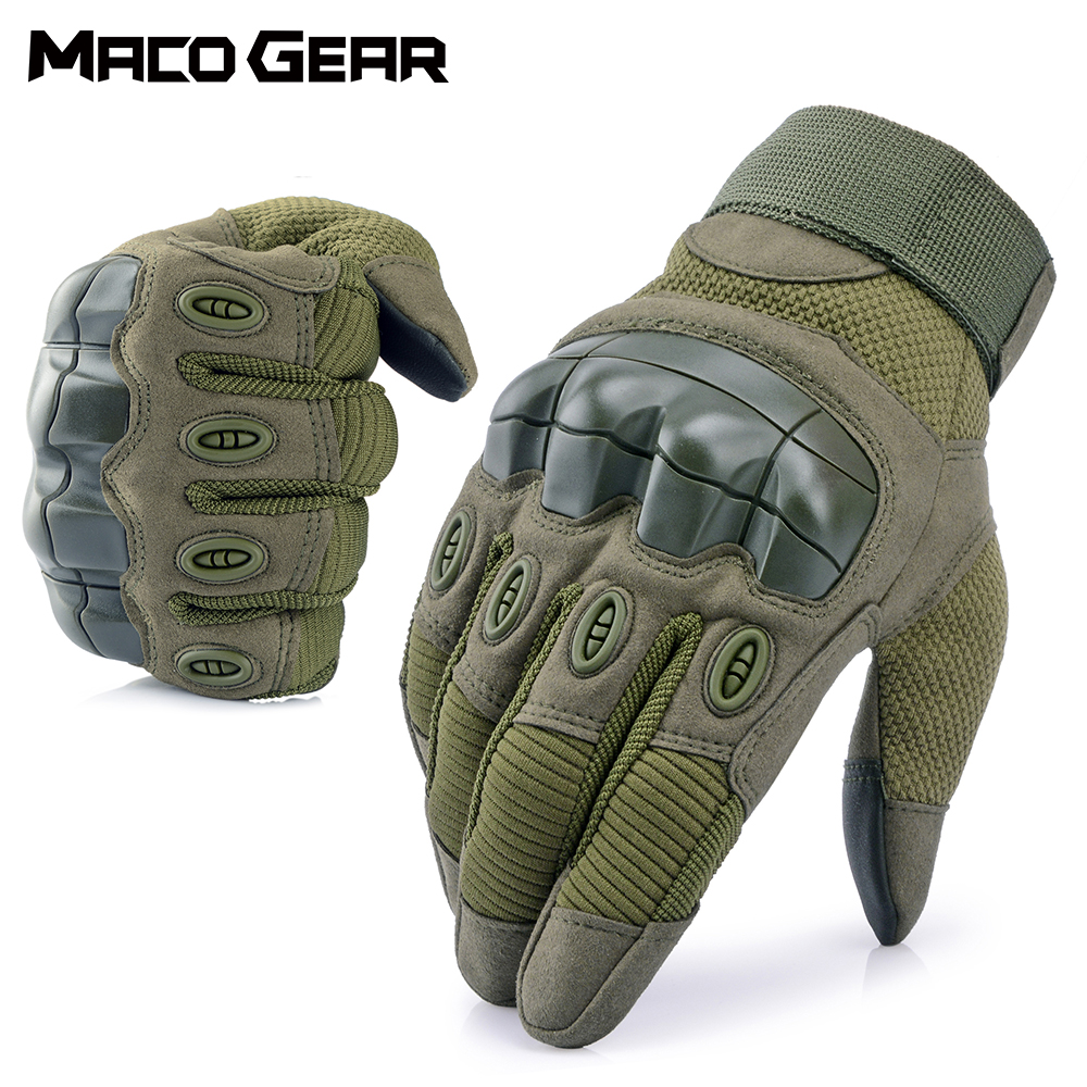 Touch Screen Hard Knuckle Tactical Full Finger Glove Army Military Combat Airsoft Outdoor Hiking Shooting Paintball Hunting