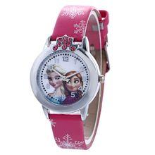 Disney Children's Cartoon Quartz Wristwatch Frozen Girl Boy Waterproof Quartz Watch