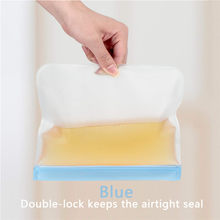 Thick Reusable Storage Bags Food Grade PEVA Ziplock Bags Leak Proof Fresh Snacks Fruits Sandwiches Washable(China)
