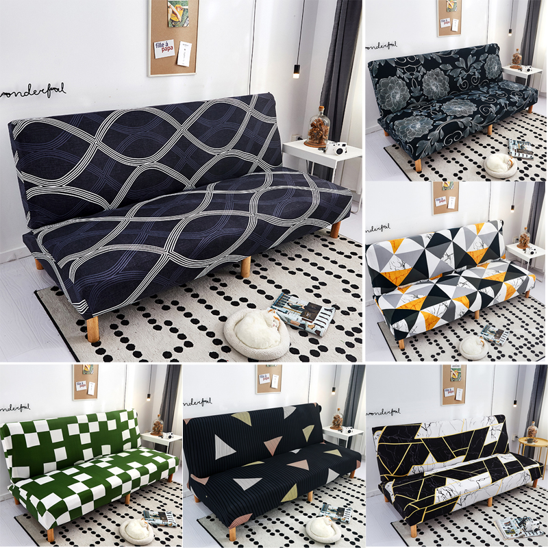 Geometric Folding Sofa Bed Cover Sofa Covers Spandex Stretchdouble Seat Cover Slipcovers For Living Room Geometric Print