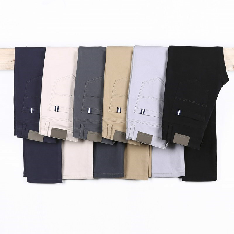 Classic 6 Color Casual Pants Men Spring Autumn New Business Fashion Comfortable Stretch Cotton Elastic Straigh Jeans Trousers 3