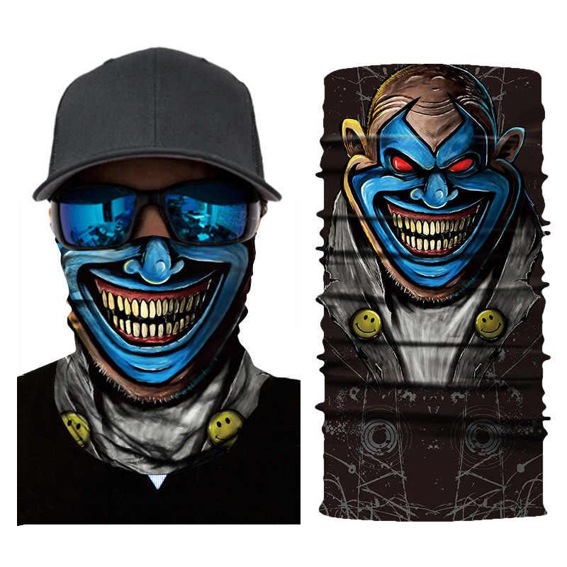 Yortusu yüz eşarp 3D kafatası dikişsiz yüz Bandana Tour de Cou Moto çok fonksiyonlu eşarp bisiklet Bragas Cuello Bandana Naruto